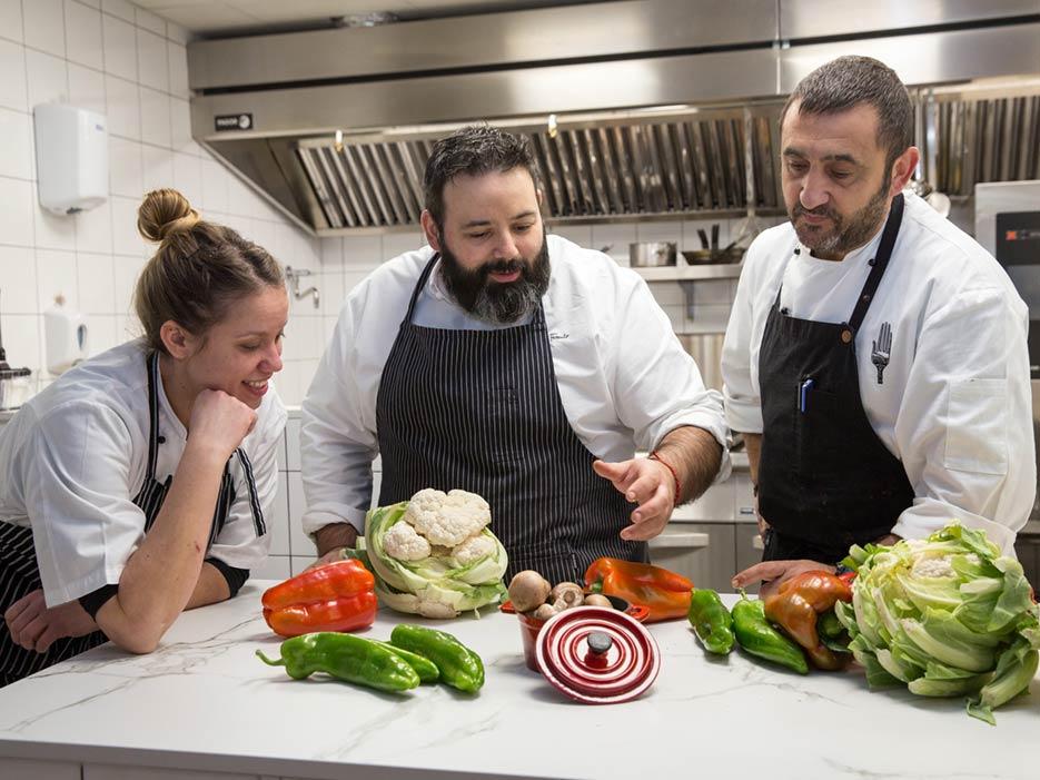 Cocina en equipo en nuestro restaurante de Logroño
